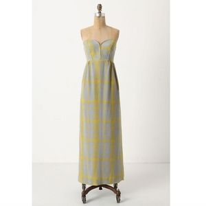 Maple Anthropologie Quilted Pastiche Maxi Dress